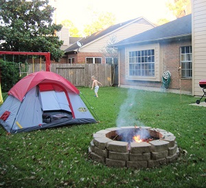 Camping in the Backyard • Anti Gripe Parenting